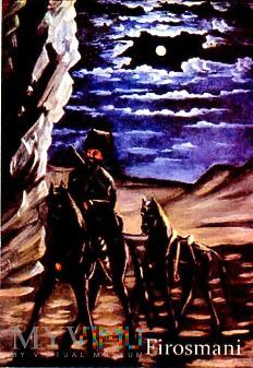 Magnes z obrazem: Niko Pirosmani - Ukradziony koń