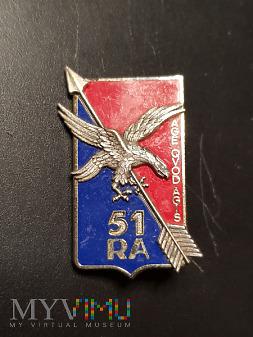 Pamiątkowa odznaka 51 Pułku Artylerii - Francja