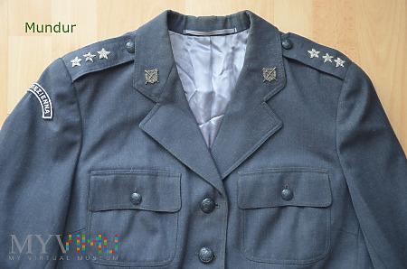 Mundur pani porucznik Służby Więziennej