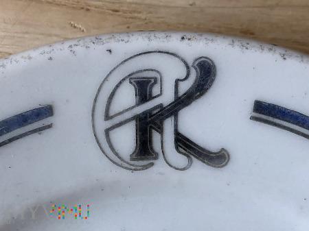 Talerzyk z monogramem AK