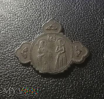 Duże zdjęcie Krzyżyk - medalik prawosławny XIX w