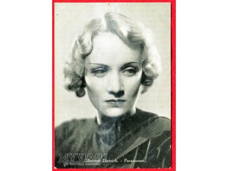 Marlene Dietrich Marlena lata 30-te pocztówka