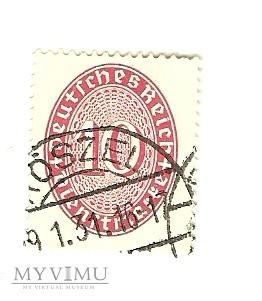10 Dienstmarke Deutsches Reich Roszel 1930