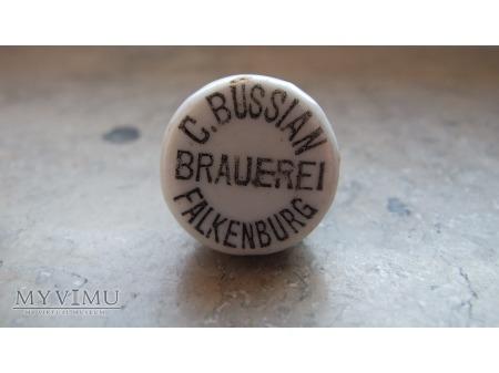 Carl Bussian Brauerei okrągła porcelanka