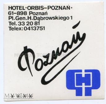 Duże zdjęcie Nalepka hotelowa - Poznań - Hotel Poznań