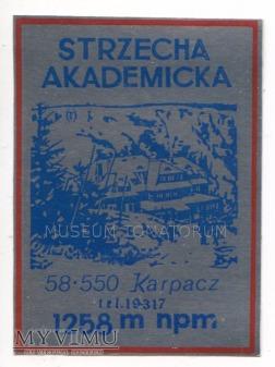 Nalepka hotelowa - Karpacz - Strzecha Akademicka