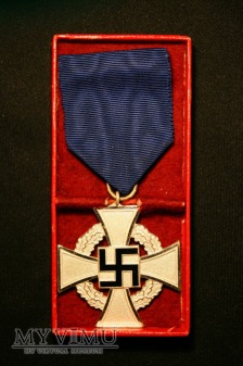 Odznaczenie za 25 lat wiernej służby - srebrne.