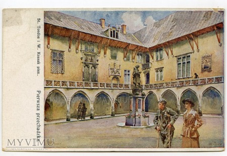 Kraków Uniwersytet Biblioteka Collegium Maius 1919