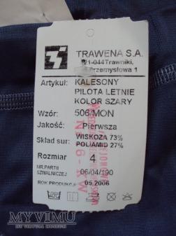 Kalesony pilota letnie WZ 506/MON