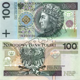 Banknot 100 zlotych 1994 r