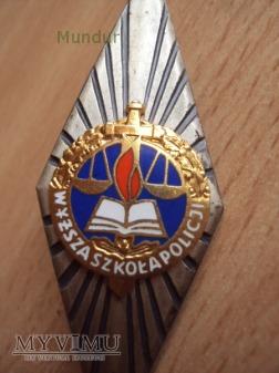 Odznaka absolwenta: WYŻSZA SZKOŁA POLICJI