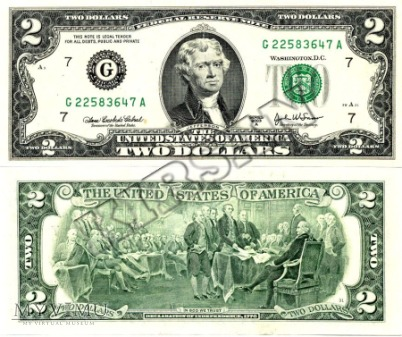 Banknot $ 2.00 2003r