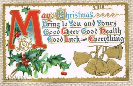 Wesołych Świąt dzwonki ostrokrzew