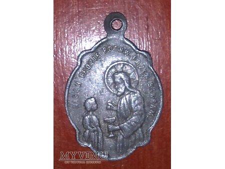 Stary medalik na pamiątkę pierwszej komunii. nr 2