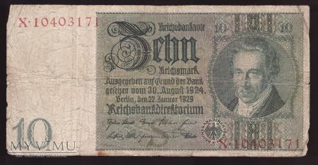 Niemcy, 10 marek 1929r Ser.X