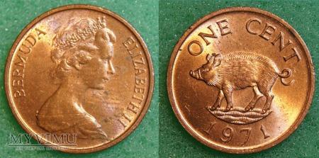 Bermudy, 1 cent 1971