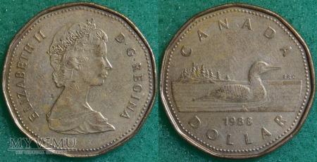 Kanada, 1 dolar 1988