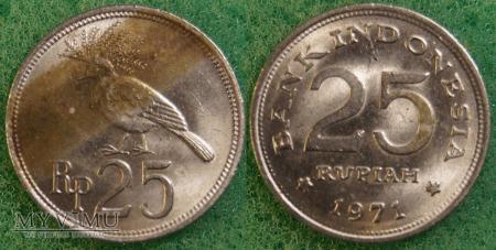 Indonezja, 25 RUPIAH 1971