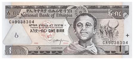 Etiopia - 1 birr (2000)