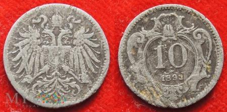 Austria, 10 heller 1893