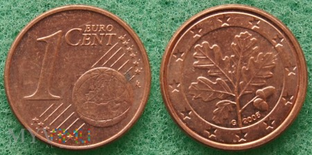1 EURO CENT 2008 G