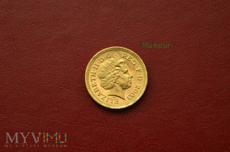 Moneta brytyjska: one pound 2003