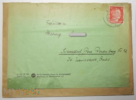 Koperta wysłana z Berlina, 1942