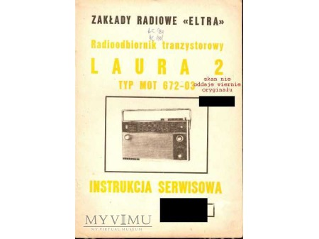Duże zdjęcie Instrukcja radia LAURA 2
