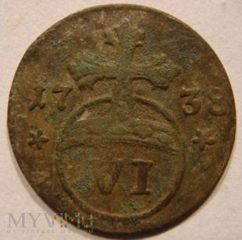 VI Pfennig 1738 Brunswick-Wolfenbüttel