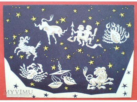 Znaki Zodiaku TELEGRAM i życzenia c. 1970-te