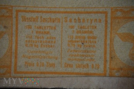 Wojenna Sacharyna - 100 tabletek