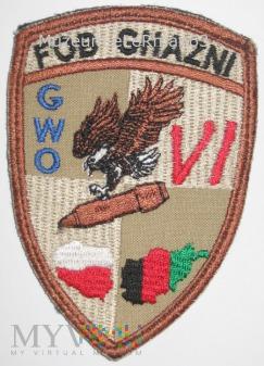 Afganistan. FOB GHAZNI. GWO. Zmiana VI