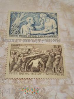 francuskie znaczki pomocy zimowej
