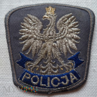 Policja - orzełek z czapki 6 cm x 6 cm