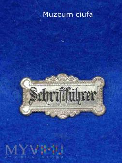 Schriftfuhrerabzeichen- odznaka
