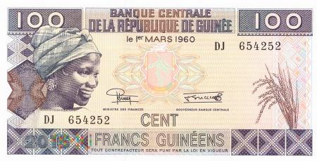 Gwinea - 100 franków (2015)