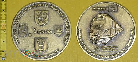 Medal kolejowy - przewozowy Rozwoju SKM Trójmiasto