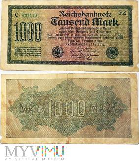 Duże zdjęcie 1000 Mark, 1922 FZ