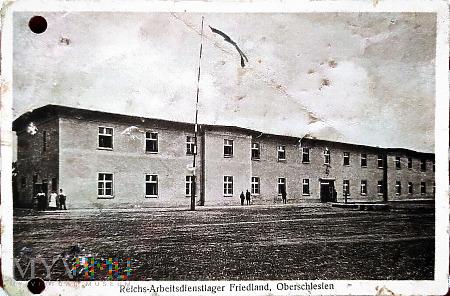 Pocztówka obóz RAD abt. 6/123 Friedland O.S.
