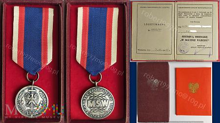"""Srebrna Odznak """"W Służbie Narodu"""""""