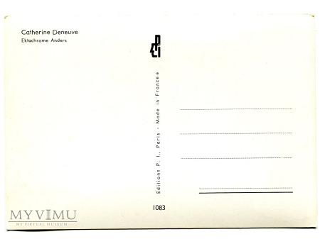 CATHERINE DENEUVE aktorka vintage postcard