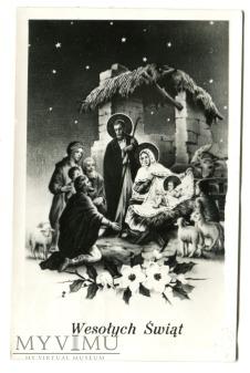 życzymy FAJNEJ BABKI na Boże Narodzenie c. 1960