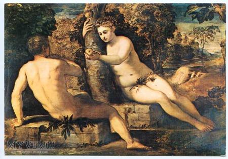 Jacopo Tintoretto - Adam i Ewa z jabłuszkiem