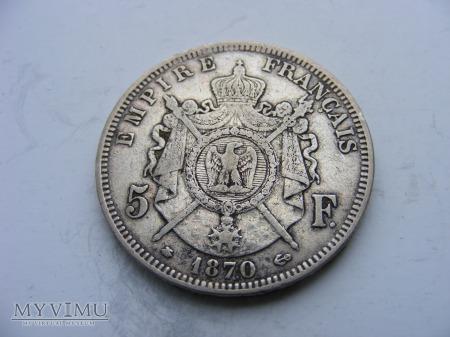 5 FRANKÓW - 1870 A