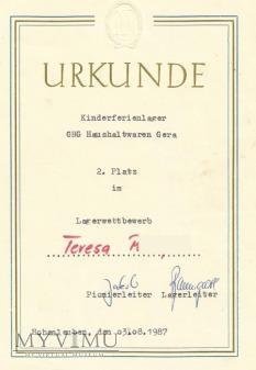 Duże zdjęcie Dyplom NRD
