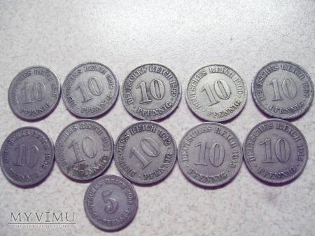 PFENIGI NIEMIECKIE 1876-1914