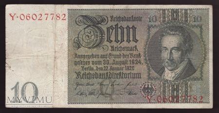 Niemcy, 10 marek 1929r Ser.Y