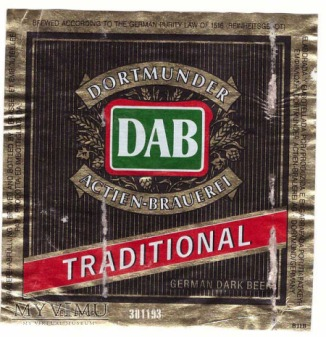 Dortmunder, DAB, Traditional