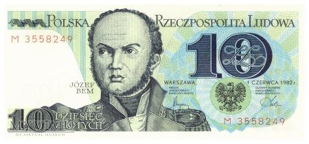 Polska - 10 złotych (1982)
