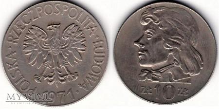 1971, 10 zł Tadeusz Kościuszko